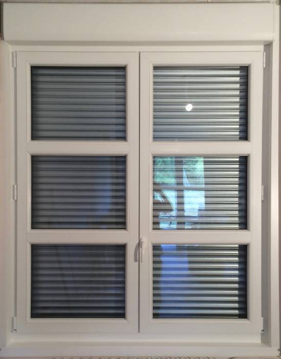 fenêtre PVC volet fermé